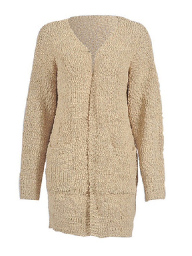 'Kris' Soft Knit Open Front Long Cardigan with Pockets (4 Colors)