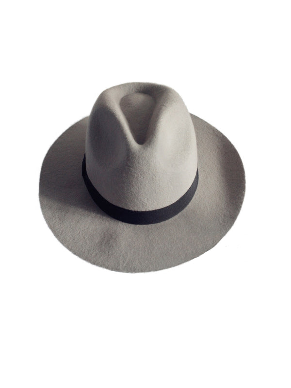 'Tori' Wool Hat with Black Ribbon (5 Colors)