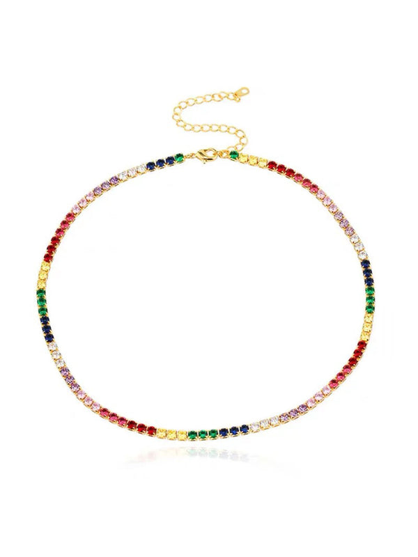'Jorja' Rainbow Crystals Necklace