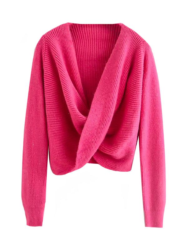 'Haku' Twisted Front Sweater (4 Colors)