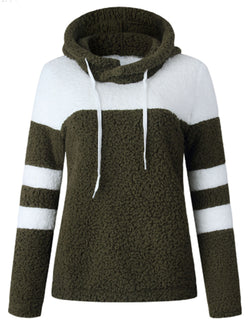 'Elaine' Bicolor Fleece Hooded Pullover (2 Colors)