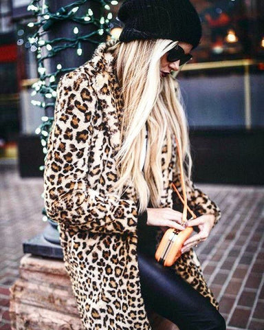 'Ora' Leopard Faux Fur Coat - Goodnight Macaroon