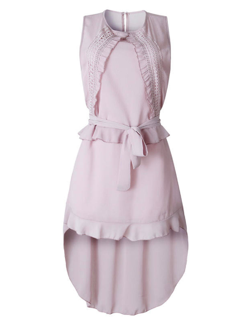 'Athena' Laced Front Tied Sleeveless Dress