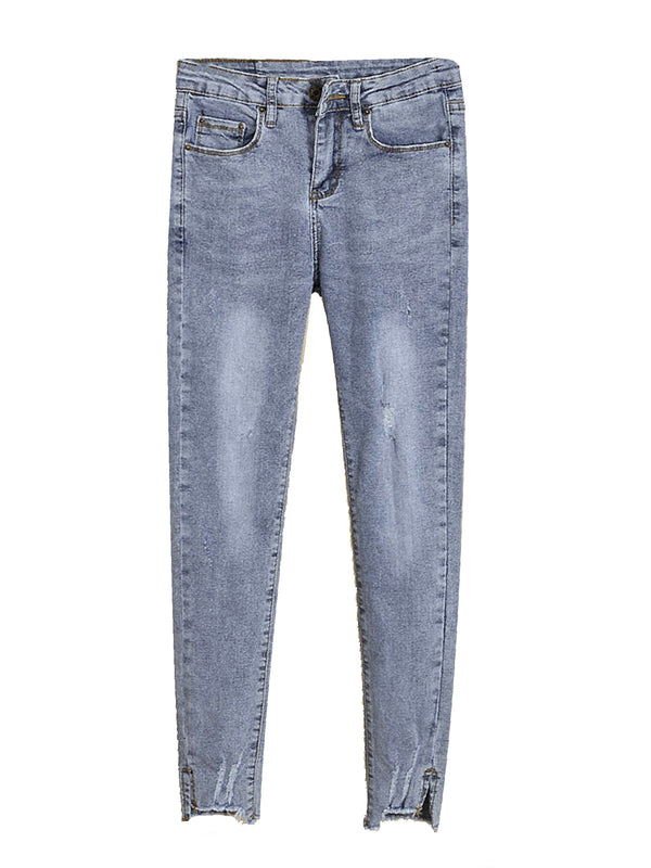 'Ari' Distressed Washed Skinny Jeans