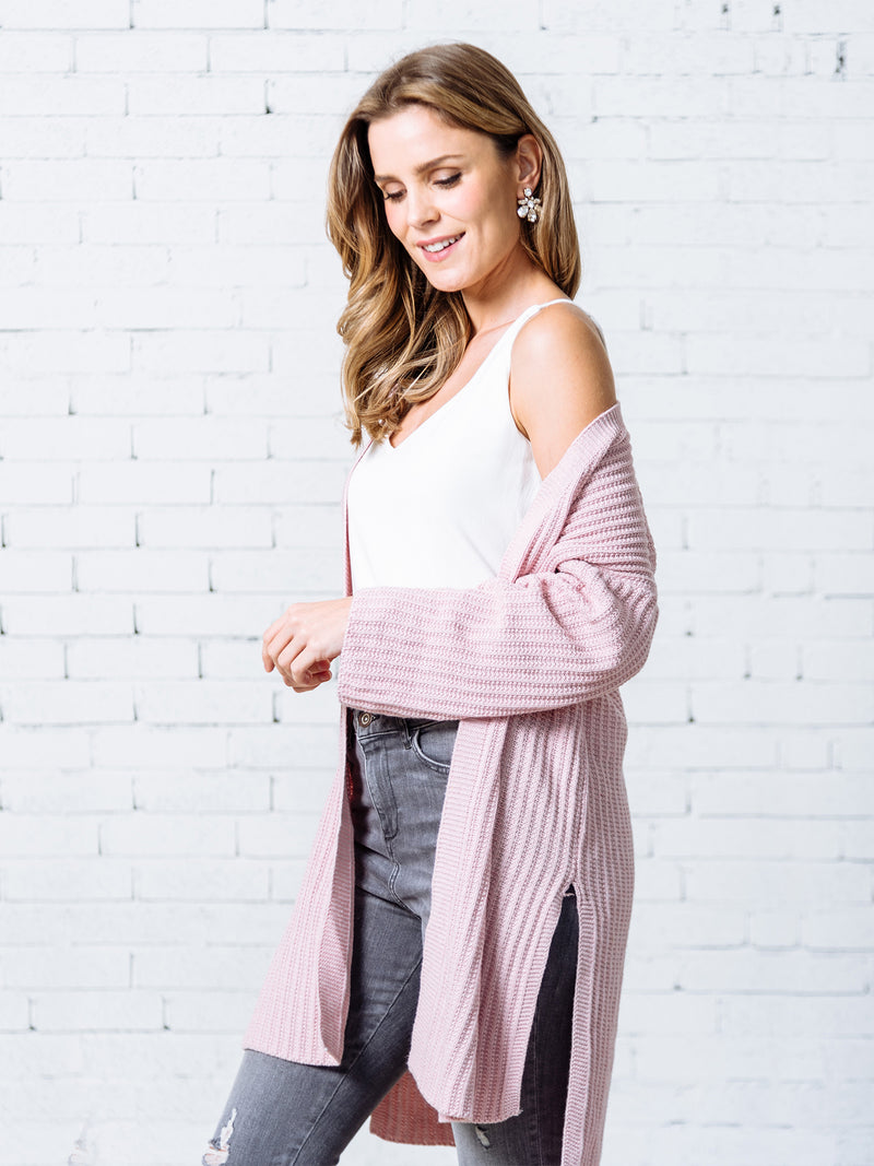 'Isobel' Open Ribbed Knit Cardigan ( 3 Colors Available )
