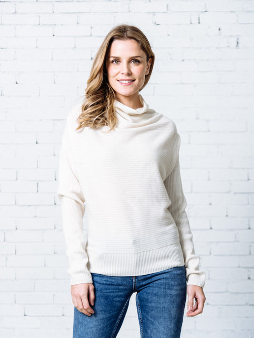 'Leticia' Ribbed Cashmere Sweater