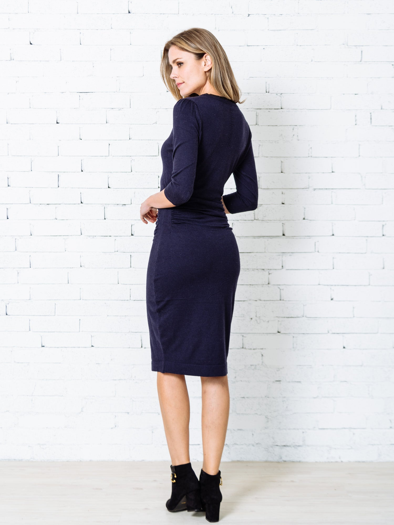 'Villia' Cashmere Eyelet Dress (2 Colors)