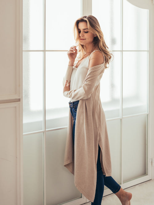 'Aiko' Wrap Thin Long Cardigan