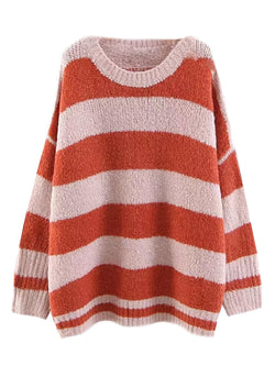 'Cicely' Striped Crewneck Sweater (2 Colors)