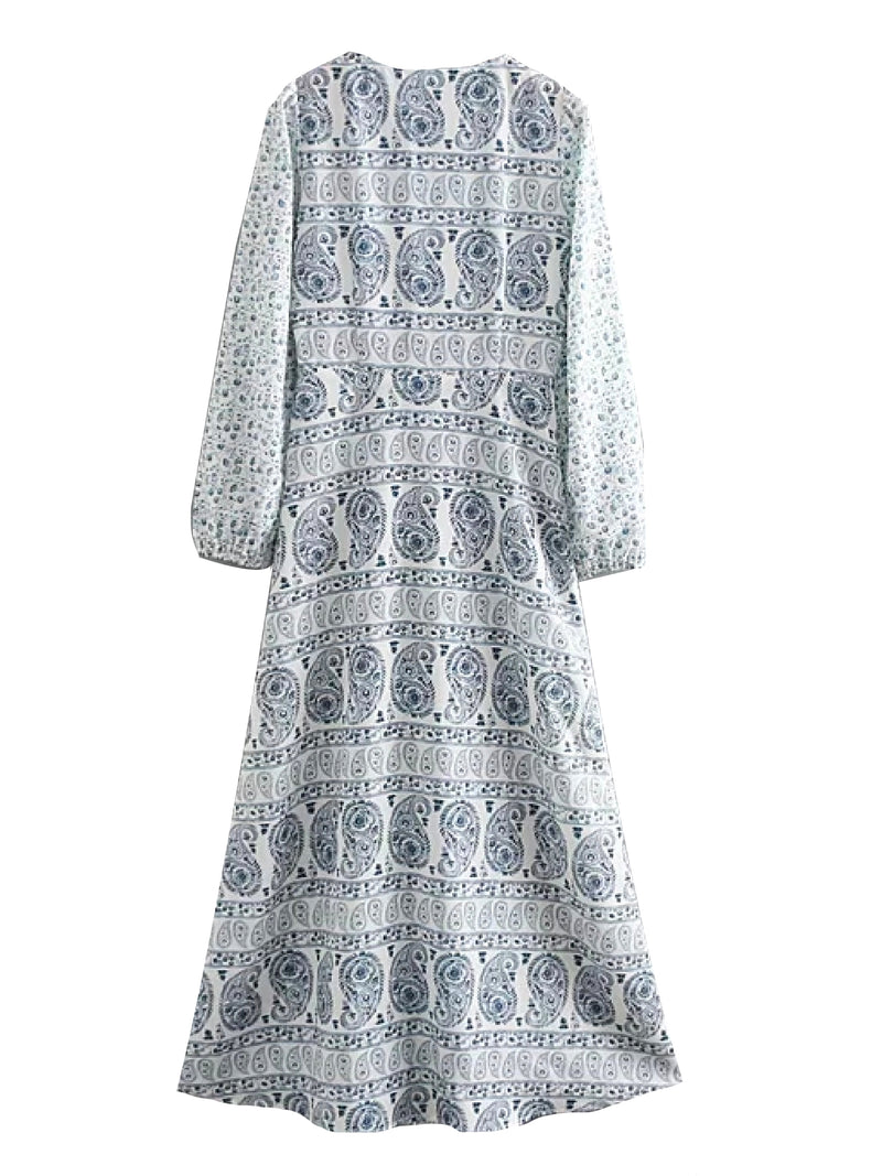 'Marley' Floral Boho Print Maxi Dress