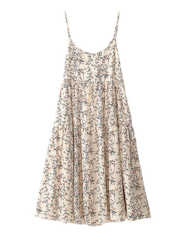 'Bizzy' Floral Flared Strap Maxi Dress
