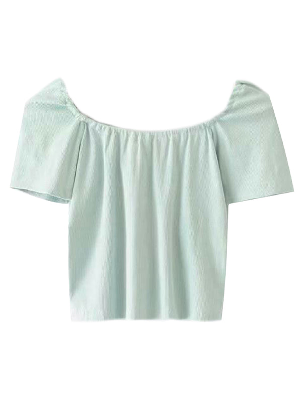 'Vanessa' Square Neck Cropped Top