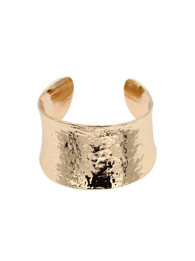 'Patricia' Gold Hammered Bangle