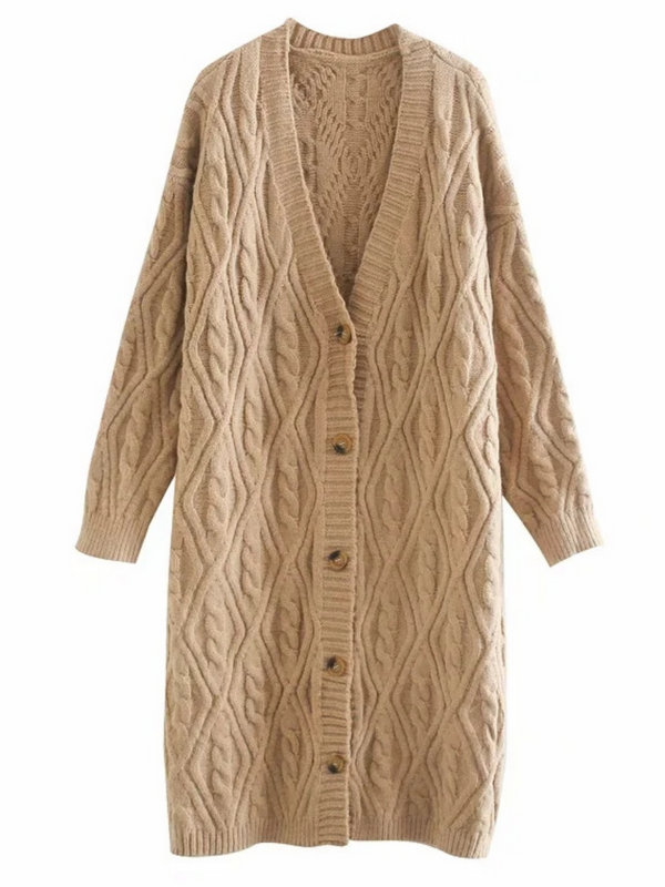 'Laila' Knitted Pattern Cardigan (5 Colors)