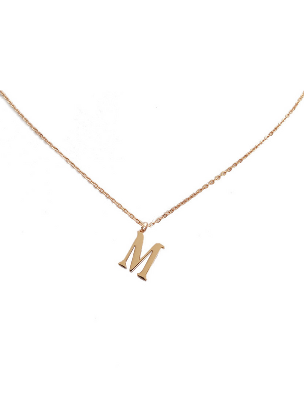'Bings' Rose Gold Letter Necklace