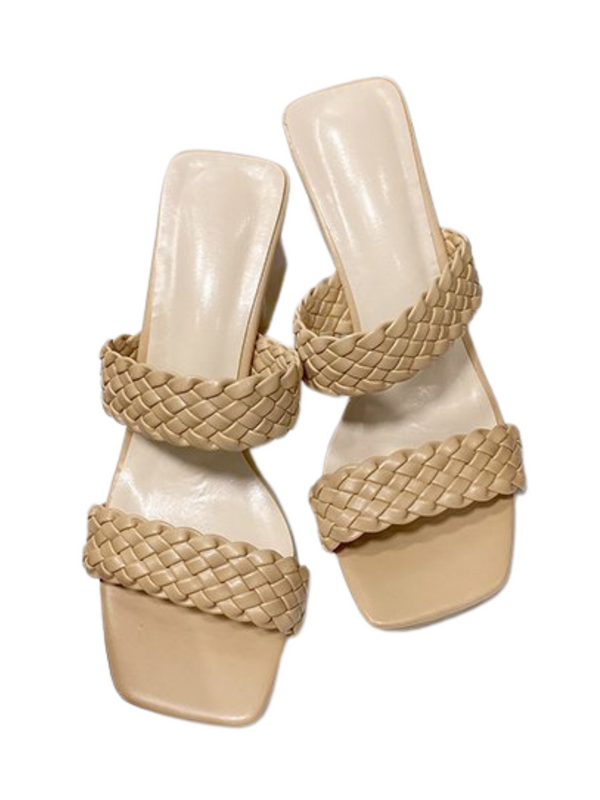 'Tasha' Double Braided Straps Heeled Sandals (3 Colors)