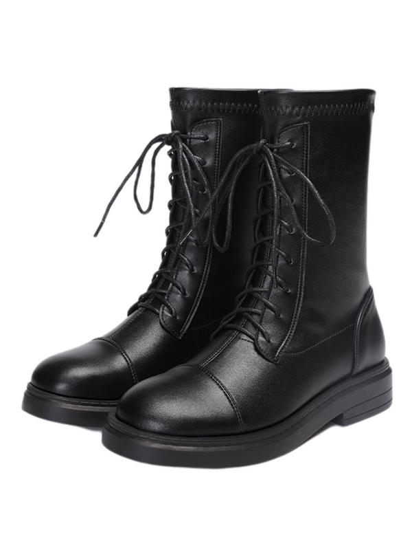 'Sonia' Elastic Lace-up Boots