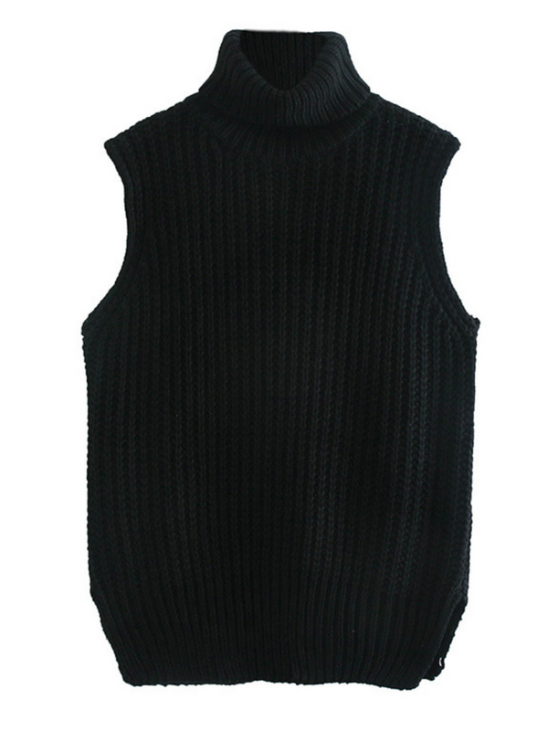 'Bambi' Turtleneck Sleeveless Sweater (2 Colors)