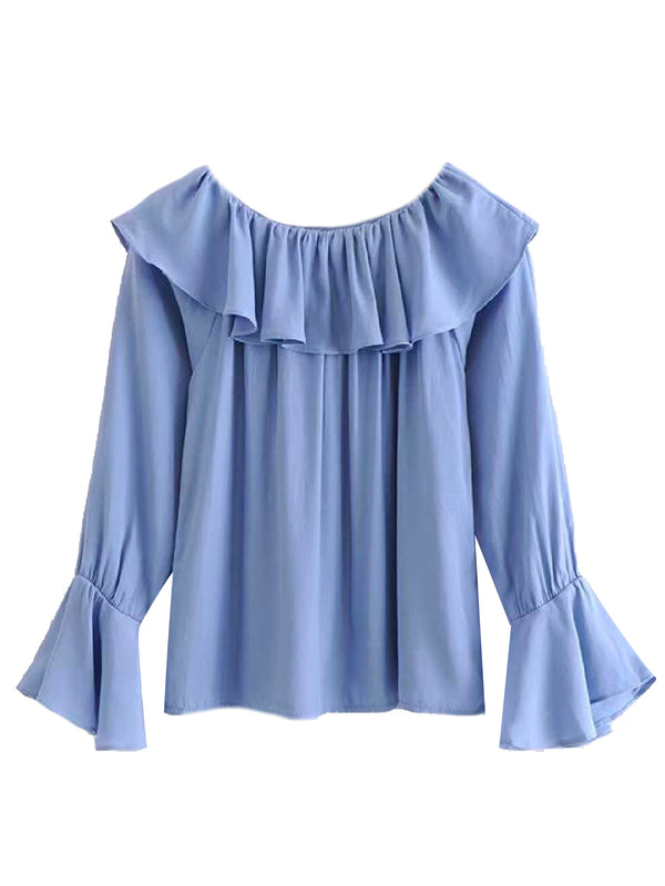 'Haley' Ruffled Off The Shoulder Blouse