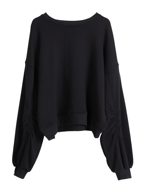 'Cadence' Gathered Sleeves Essential Top (2 Colors)