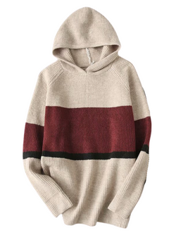 'Tikki' Soft Colorblock Hooded Sweater (3 Colors)
