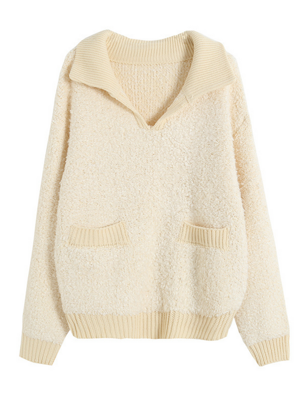 'Joanne' Collar Teddy Knitted Sweater