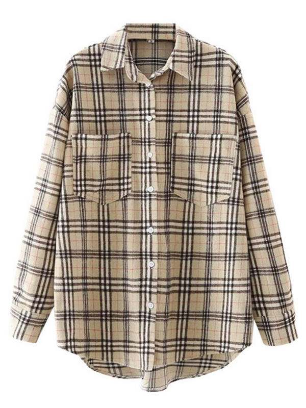 'Kary' Plaid Pocket Shirt