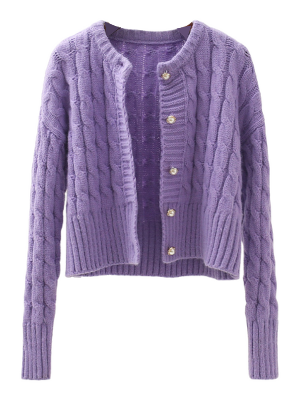 'Pony' Cable-knit Cardigan
