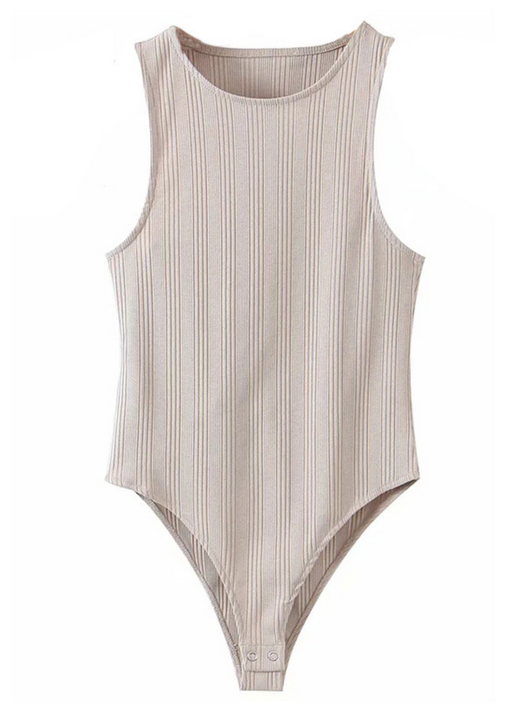 'Irisar' Ribbed Tank Bodysuit (2 Colors)