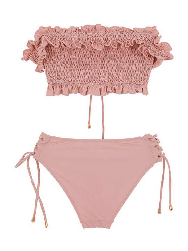 'Andrea' Ruched Ruffled Bikini (3 Colors)