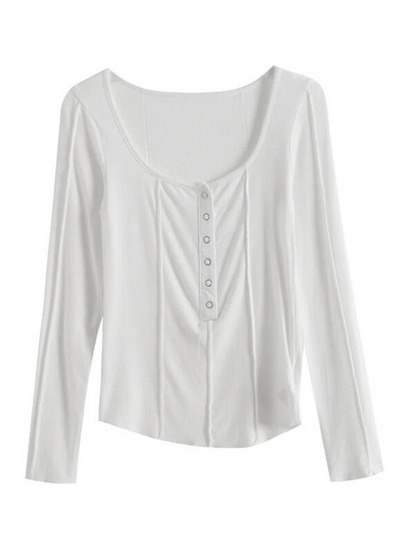 'Trinity' Buttoned Inside-out Top (2 Colors)