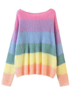 'Dianna' Rainbow Lightweight Top