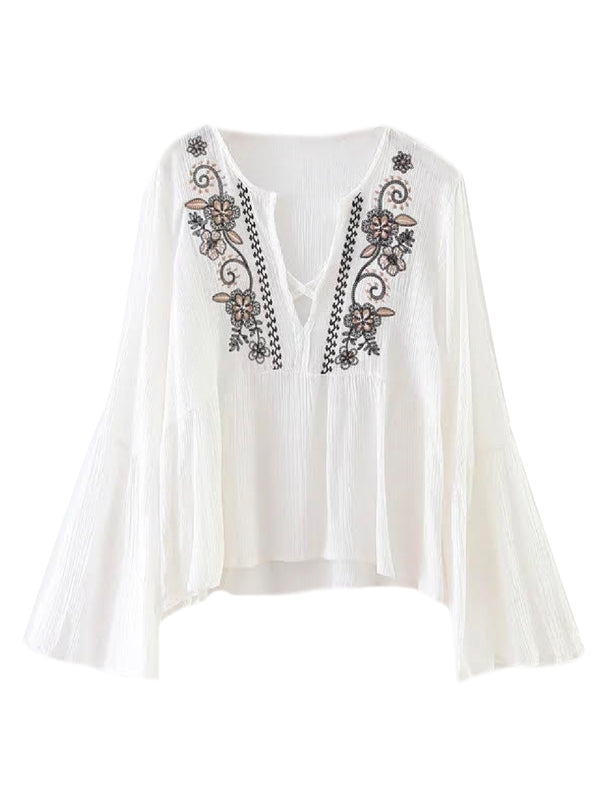 'KIKI' BOHEMIAN EMBROIDERED BLOUSE