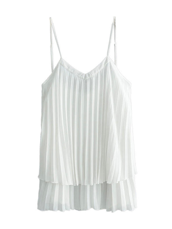 'Sadie' Sheer V-neck Strap Top