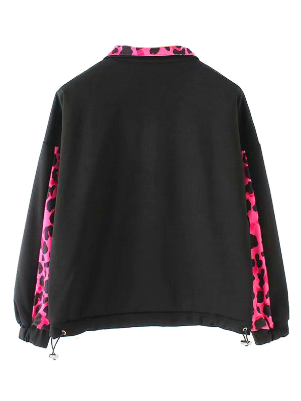'Norah' Front Pocket Leopard Print Sweater