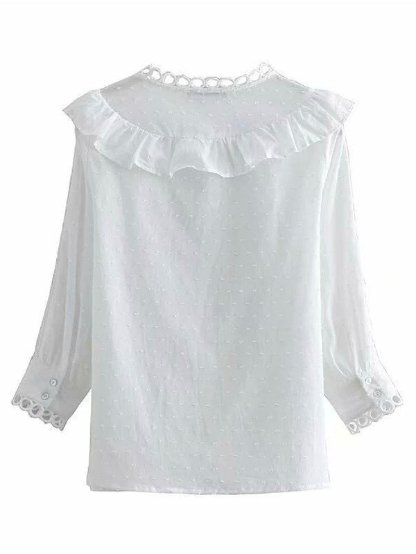 'Autumn' Ruffled Detail Shirt