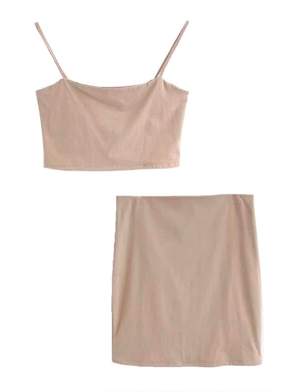 'Bella' Cami Crop Top & Mini Skirt Co-Ord