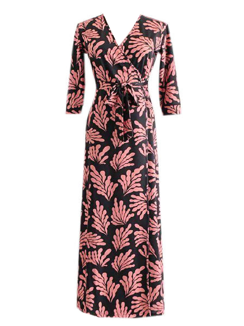 'Madison' Printed Wrap Maxi Dress