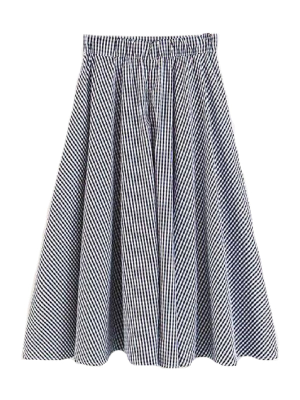 Goodnight Macaroon 'Cara' Gingham Flared Skirt Back
