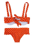 Goodnight Macaroon 'Ginny' Polka Dot Bikini Set Back