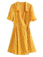 'Harley' Polka Dot Flare Wrap Dress (2 Colors)