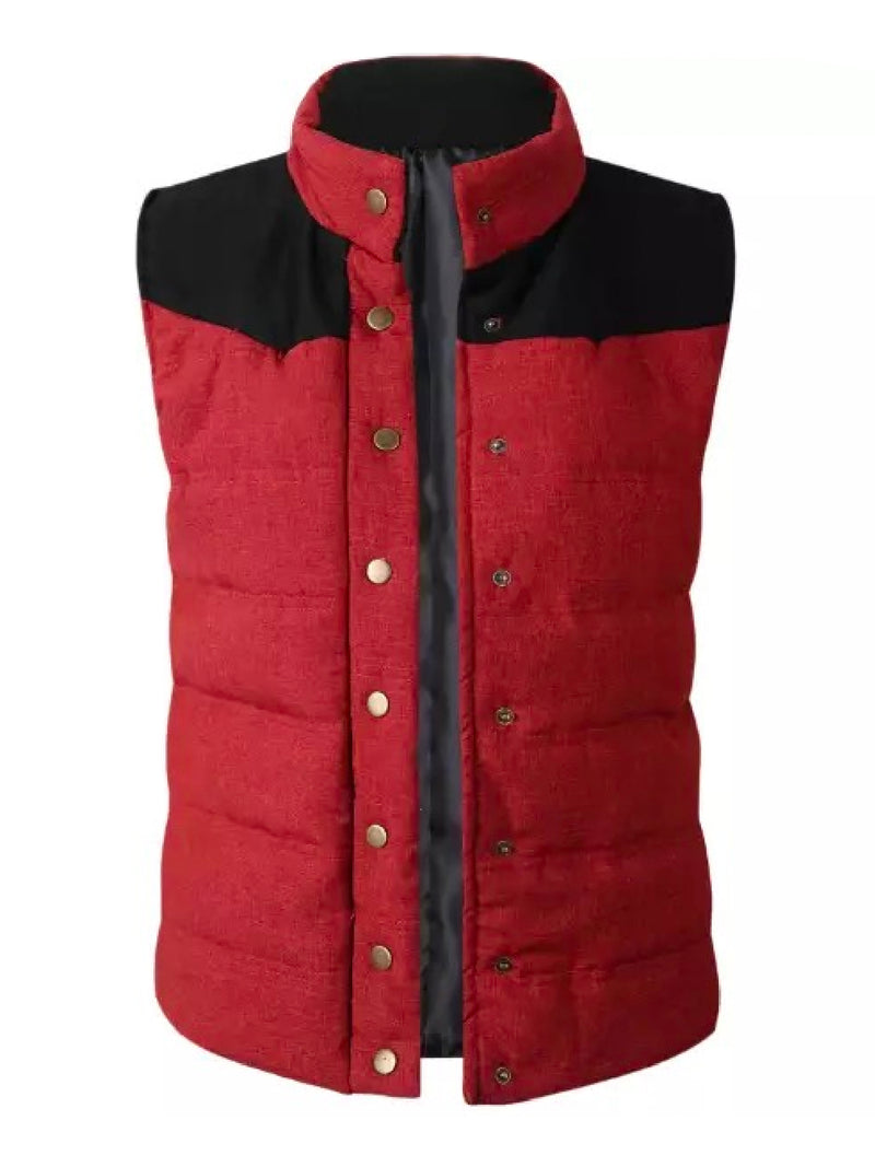 'Indira' Button Front Down Vest Jacket (3 Colors)