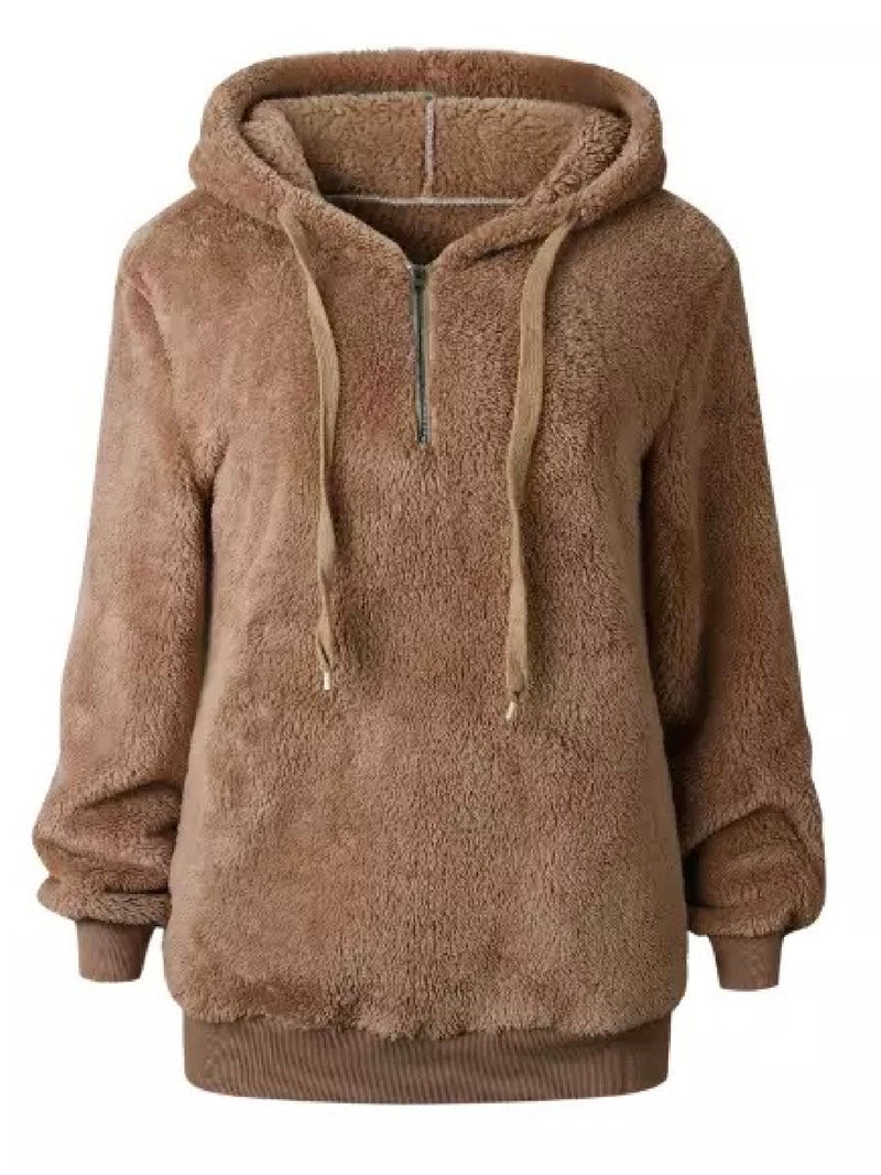 'Mairi' Fleece Half Zip Hoodie (6 Colors)