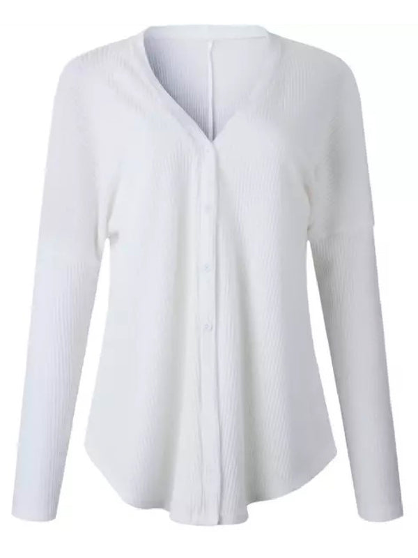 'Sophia' Ribbed Button Down Thermal Sweater (3 Colors)