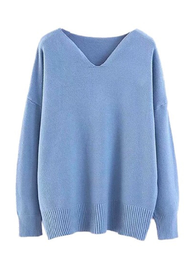 'West' V-Neck Sweater (4 Colors)