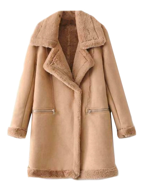 'Sunny' Faux Shearling Long Coat (3 Colors)