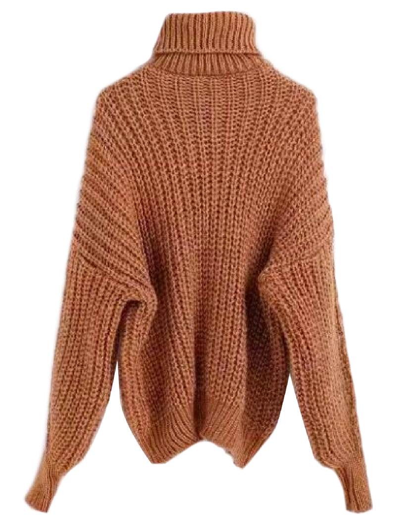 'Brenda' Bishop Sleeve Turtleneck Sweater (5 Colors)