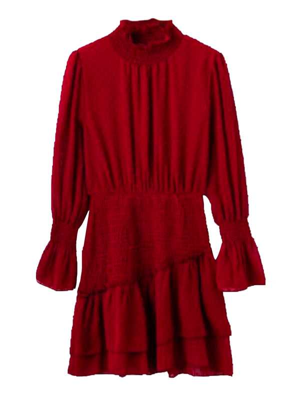 'Inca' Ruched Frilled Mini Dress (5 Colors)