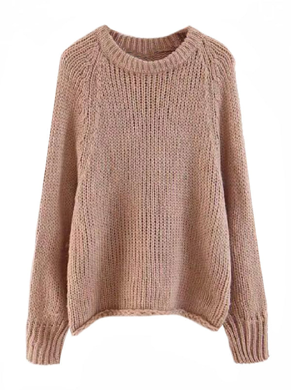 'Bram' Knitted Slouchy Sweater (2 Colors)