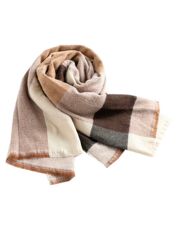 'Bayley' Plaid Lightweight Scarf
